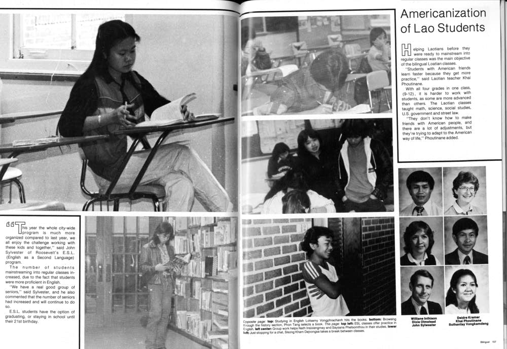 Roosevelt High School yearbook pages