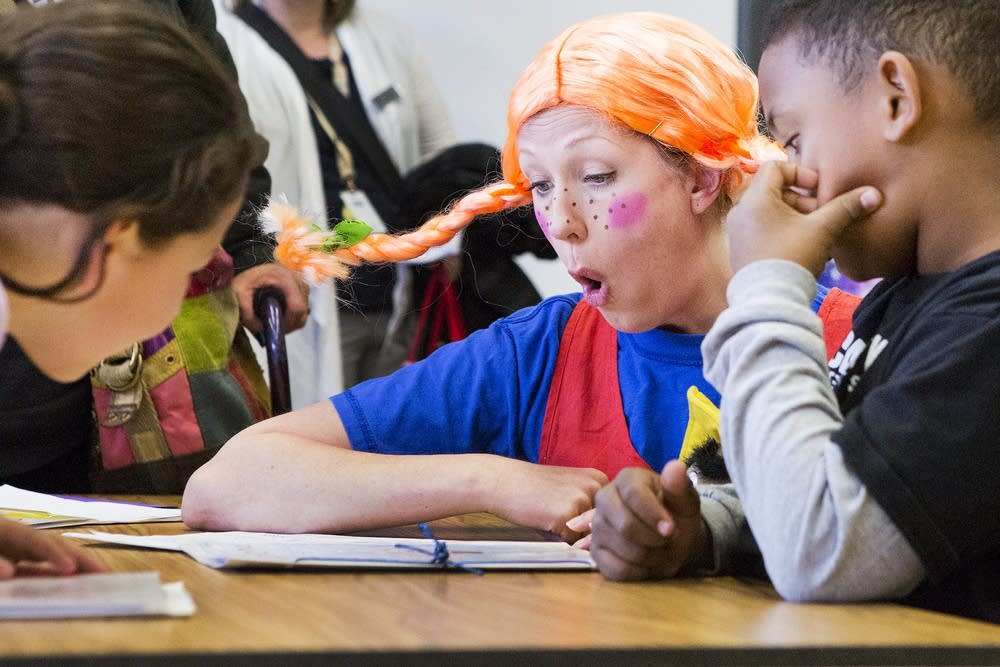 Pippi visitis Bancroft Elementary