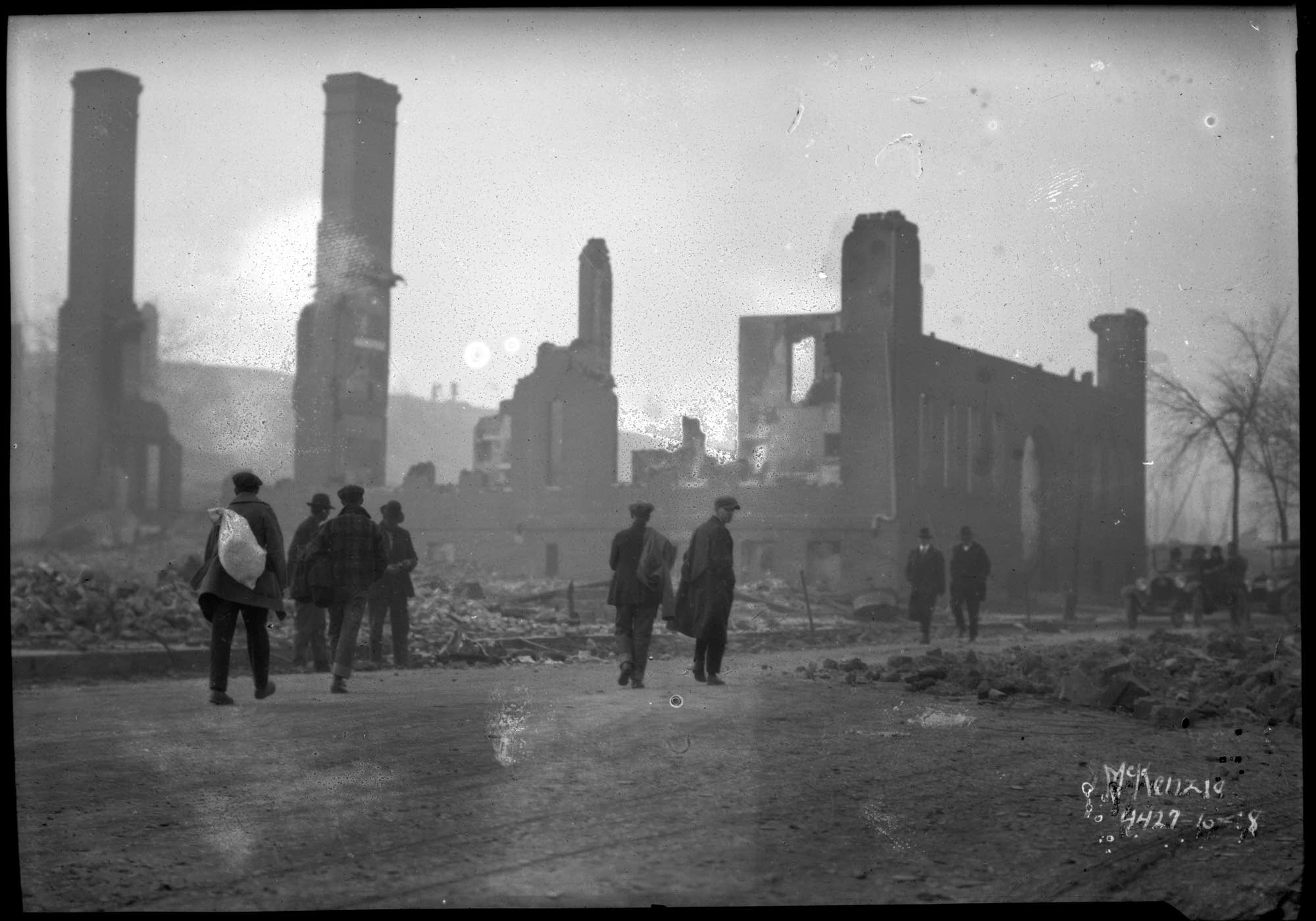 Cloquet in ruins after the fire.