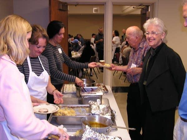 Volunteer servers at Westminister Presbyterian