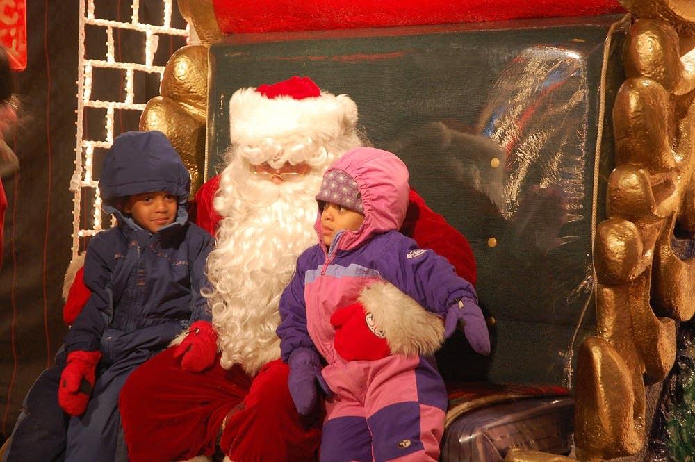 Children on Santa's lap