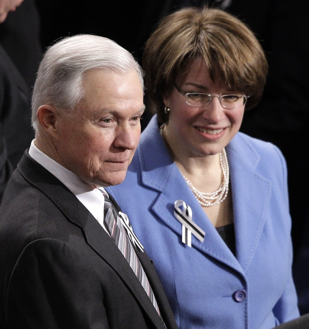 Amy Klobuchar, Jeff Sessions