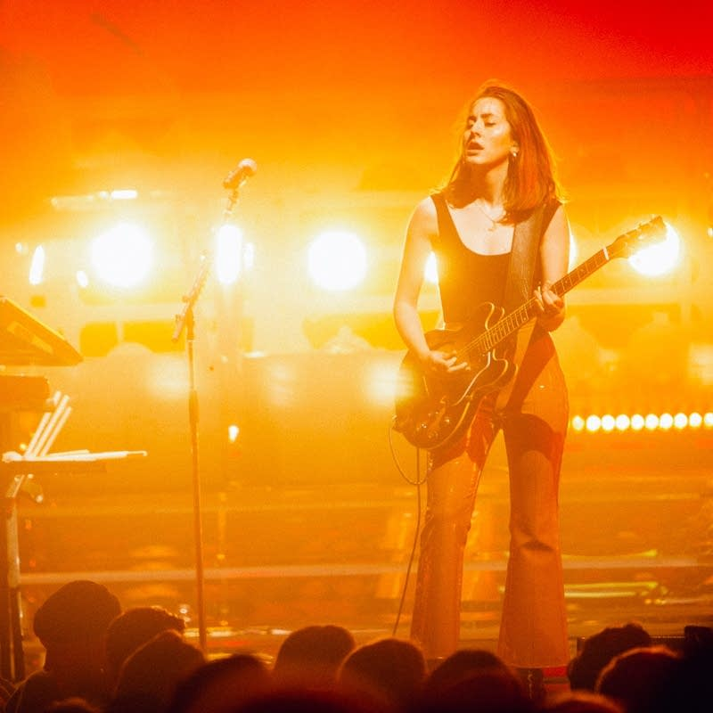 Haim perform at the Palace Theatre in May 2018.