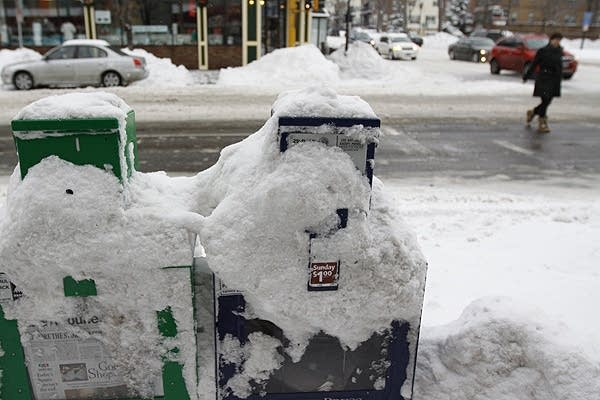 Snow-covered news