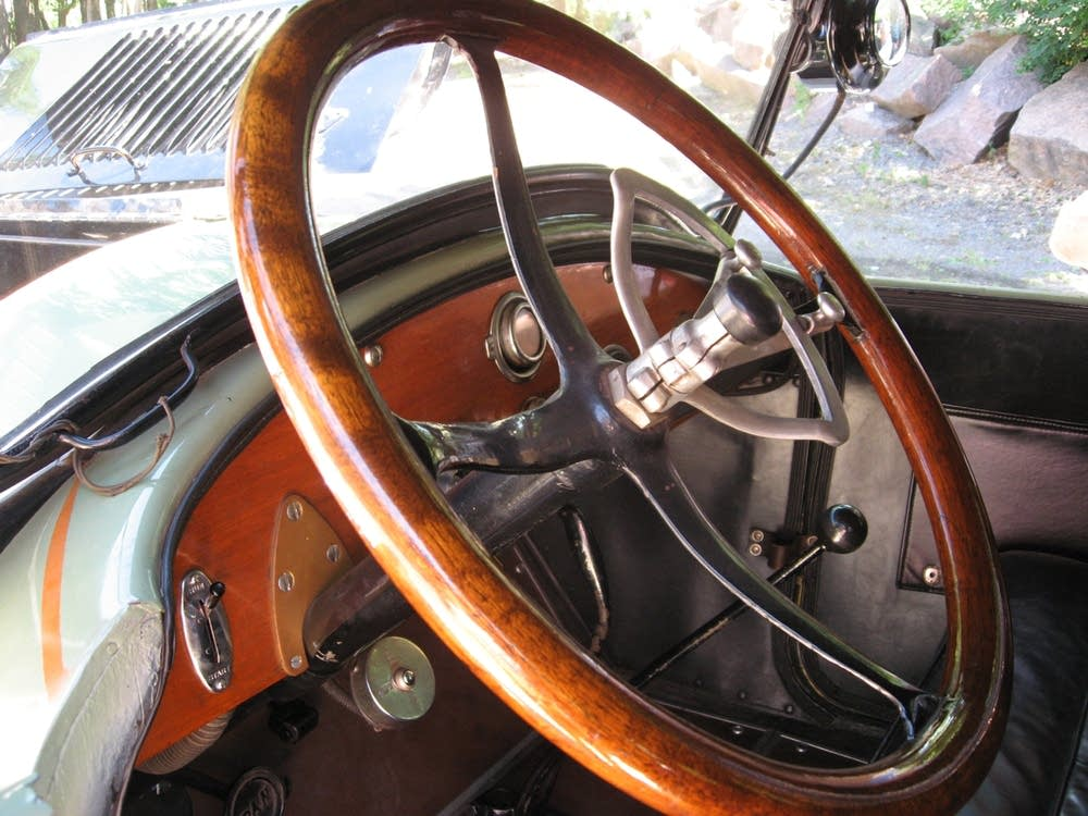 Restored Pan Car steering wheel