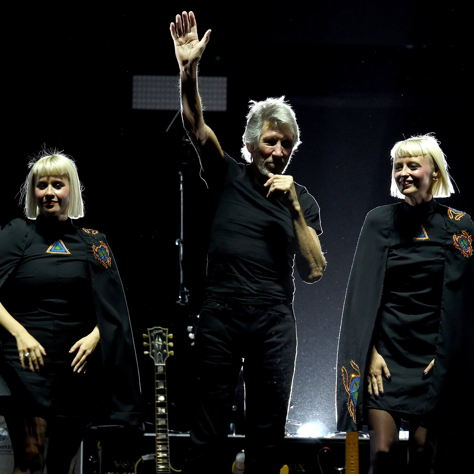 Jess Wolfe and Holly Laessig of Lucius perform with Roger Waters