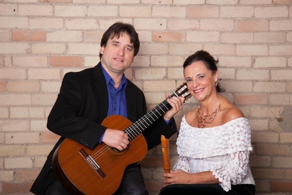 Rene Izquierdo and Clea Galhano