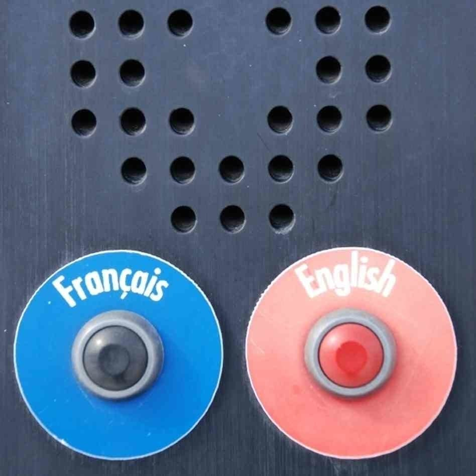 Buttons for french and english bilingual