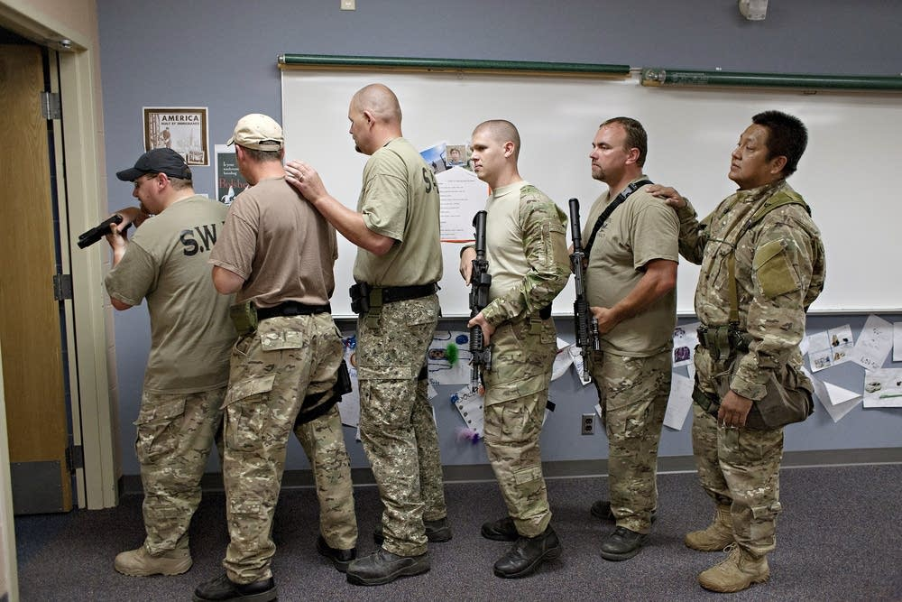 Six members of the West Central Minnesota S.W.A.T.