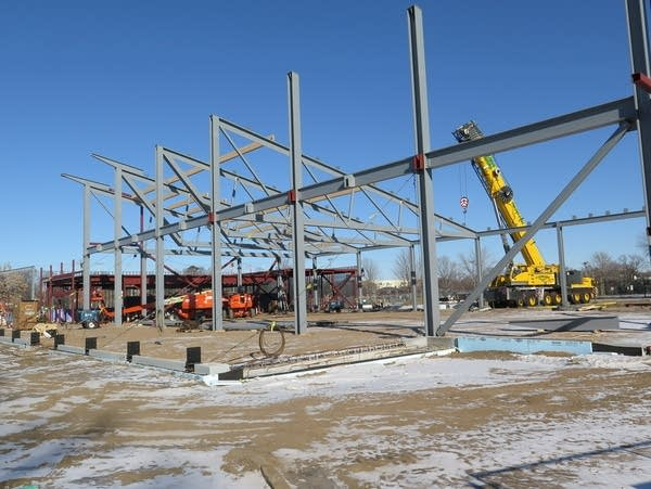 Construction of a new exhibit hall at the Minnesota State Fair