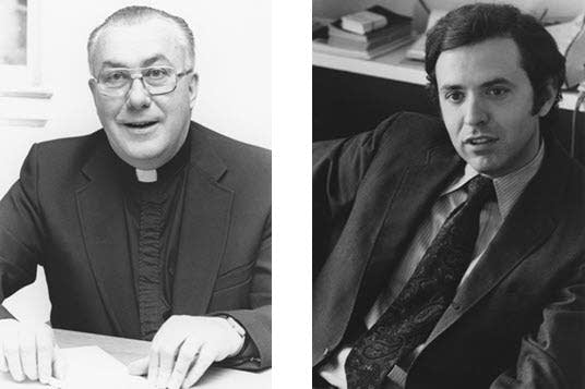 Father Colman Barry and Bill Kling