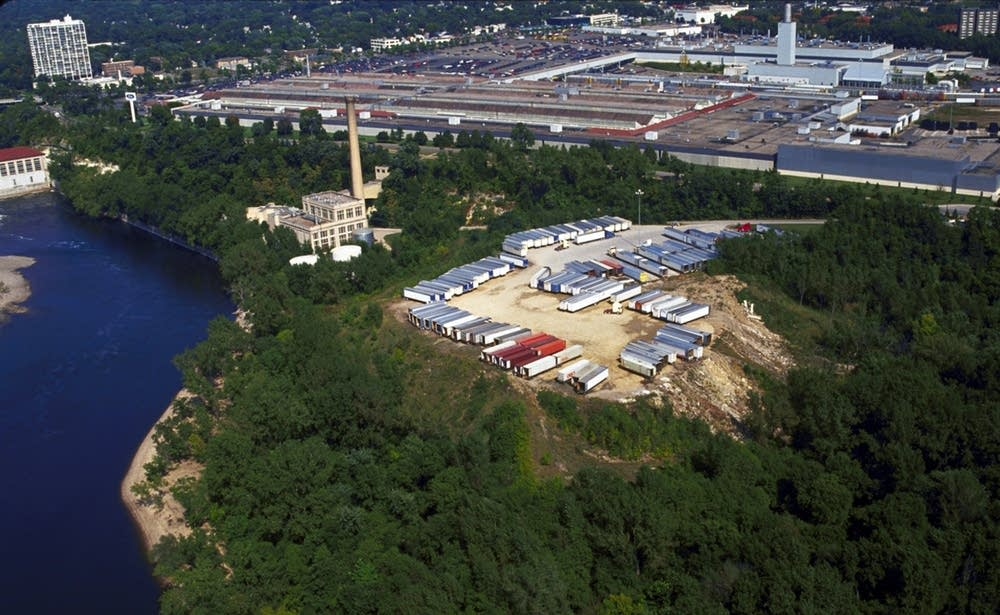 The former Ford plant dump site, foreground.