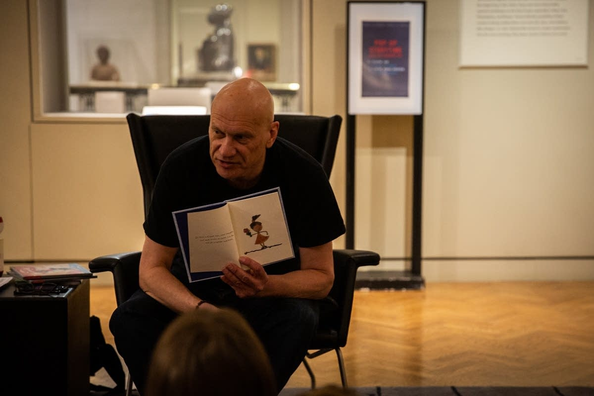 Mark Wheat reads during Pop-Up Storytime at Rock the Cradle 2020.