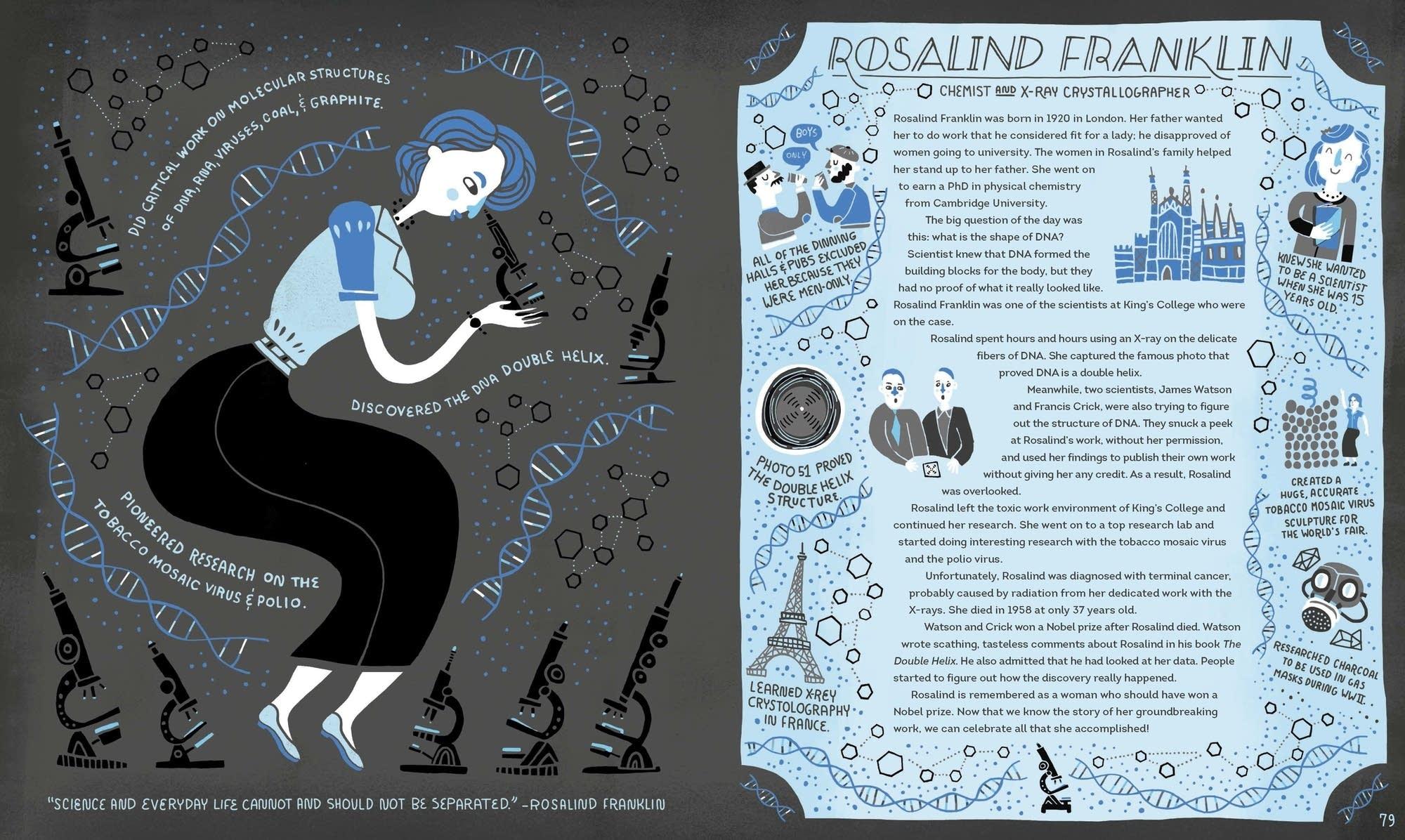 Rosalind Franklin, a chemist