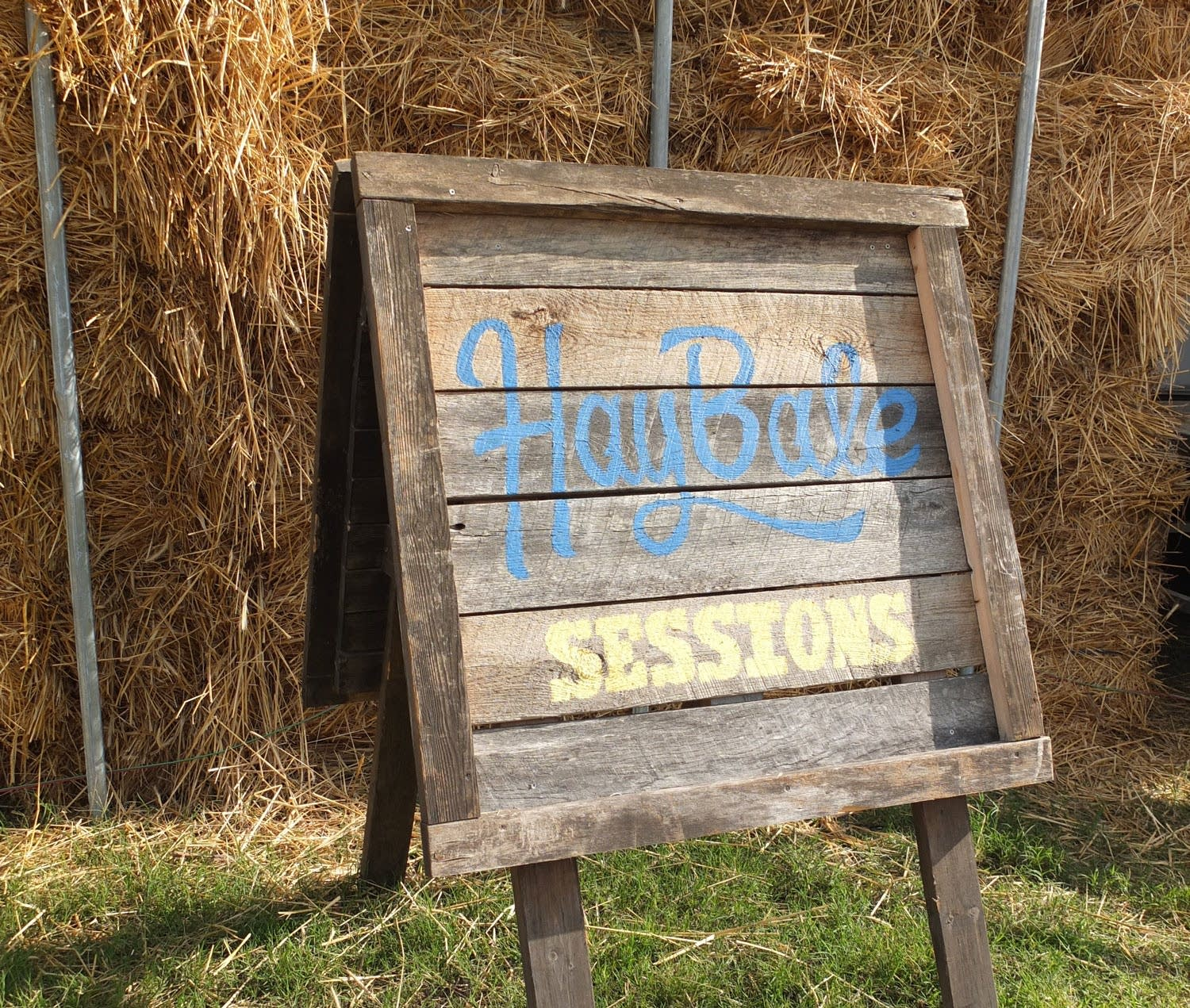 Sign to the Haybale Sessions at Bonnaroo