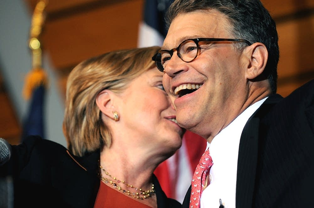 Al Franken and Hillary Clinton