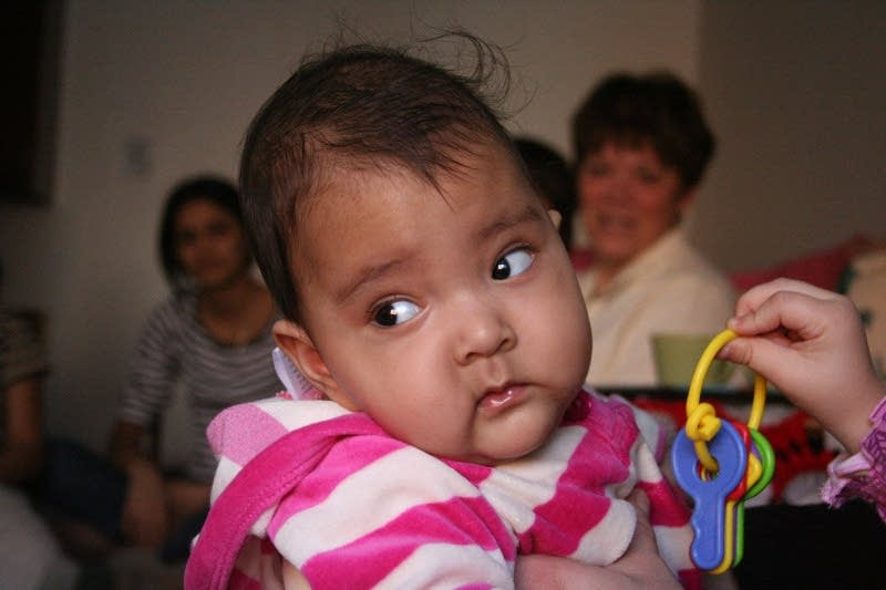 Six-month-old Ruby Khatiwada