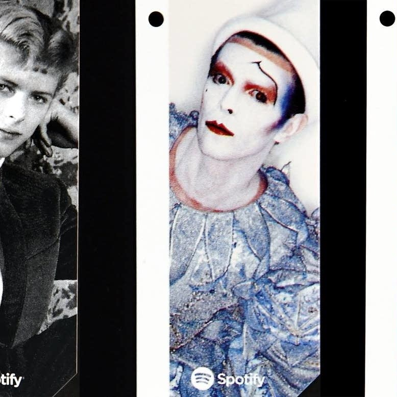David Bowie MetroCards in three of five designs.