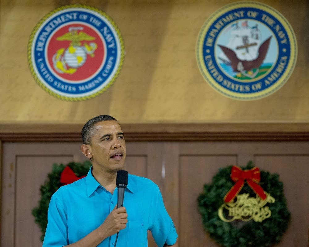 Obama at Marine Corps Base Hawaii