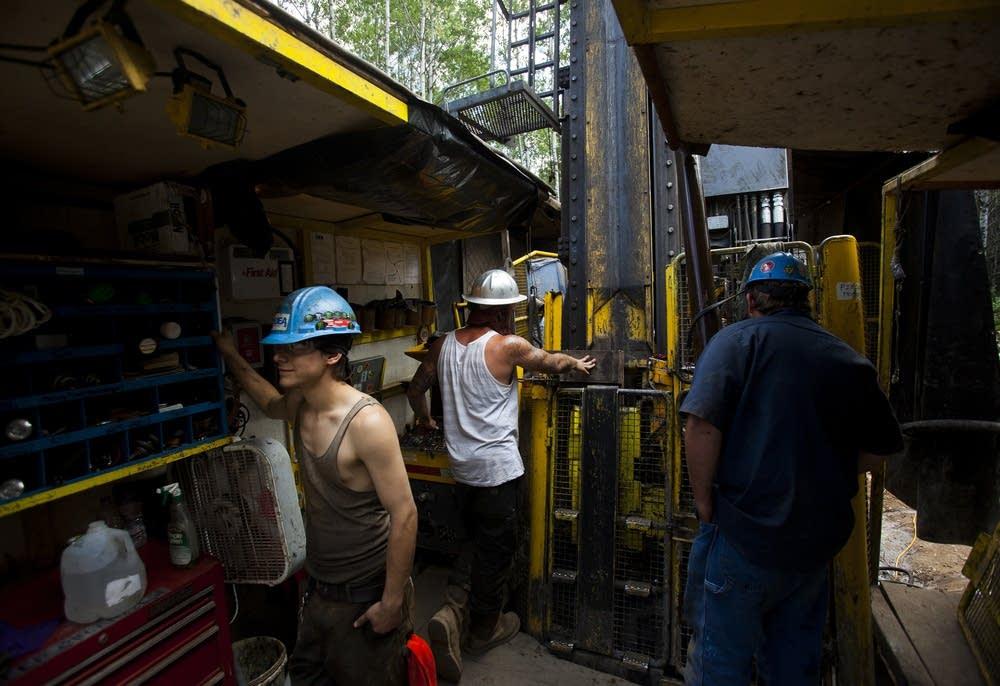 Exploratory drilling site