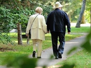 An elderly couple