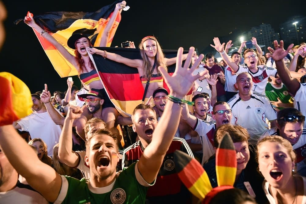 German fans at the World Cup