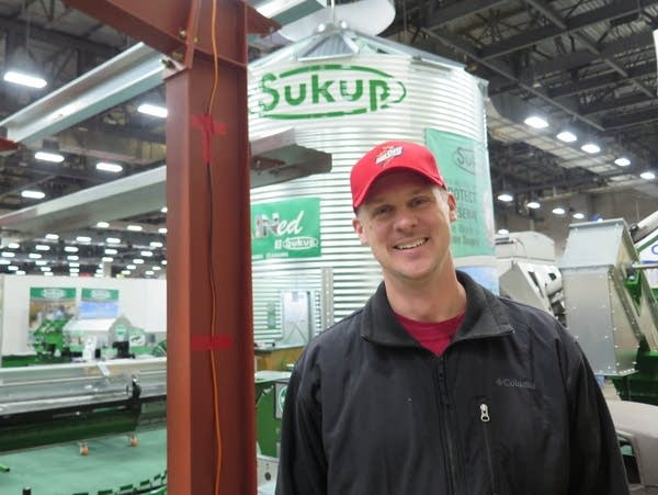 Randy Dreher has a livestock and row crop farm an hour west of Des Moines.