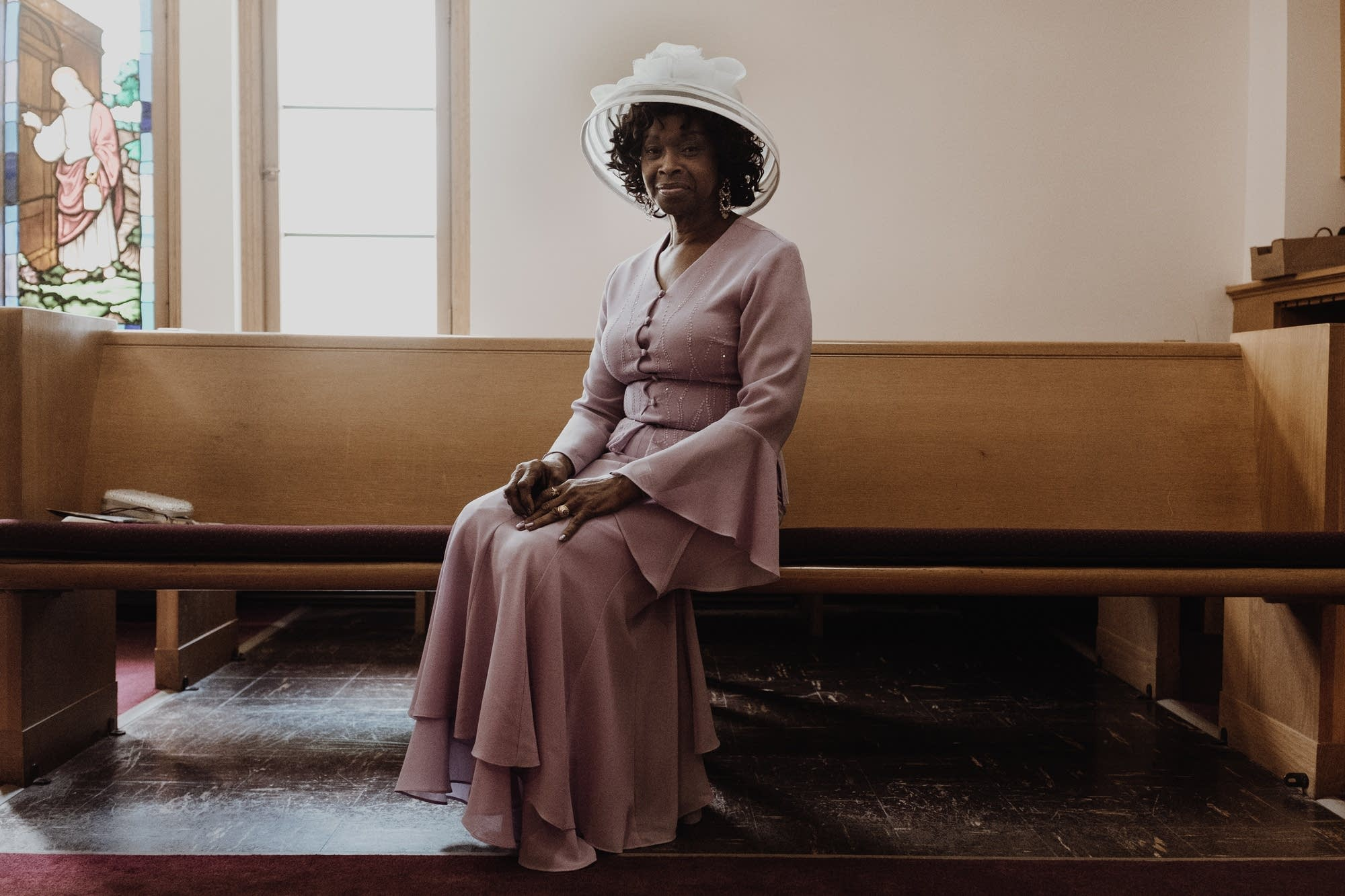 A photograph from Den-Zell Gilliard's series, Sunday Best