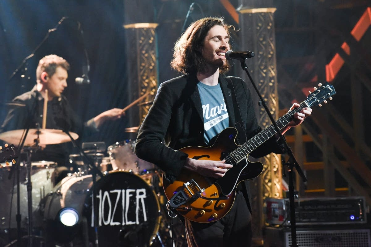 Hozier performs on 'The Late Show with Stephen Colbert'