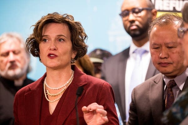 Betsy Hodges speaks about immigration.