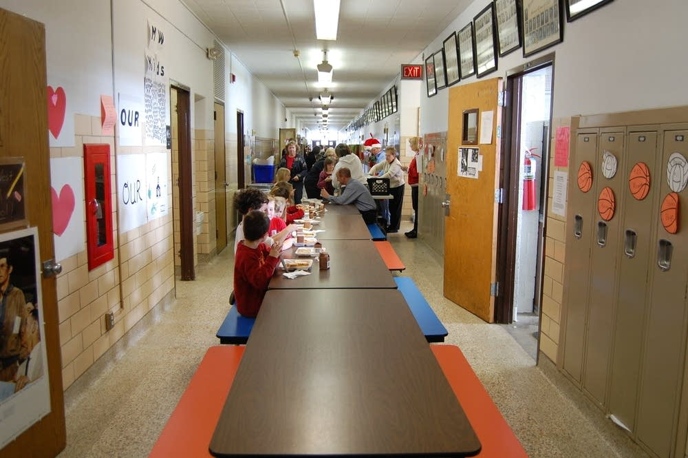 Lunch in the hallway