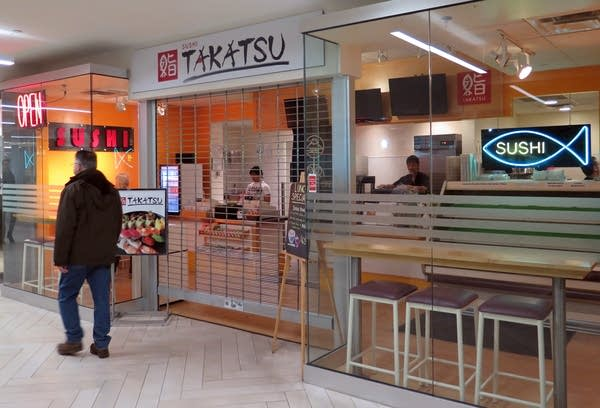 At Sushi Takatsu in the skyway, staff geared up for little traffic.
