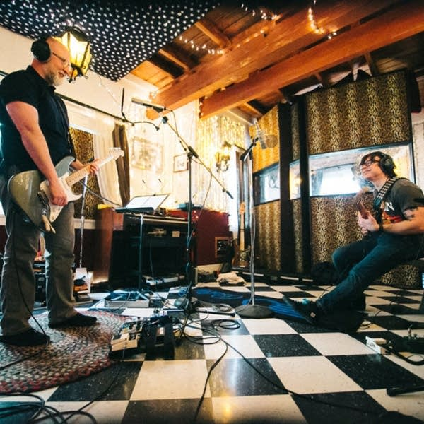 Bob Mould and Ryan Adams at PAX-AM Studios
