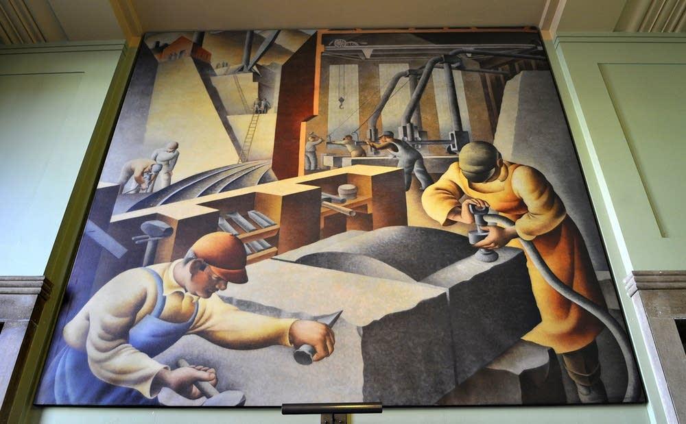 WPA mural