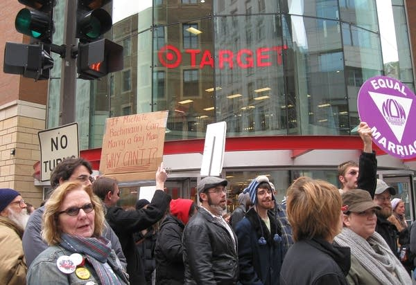 Protest at Target