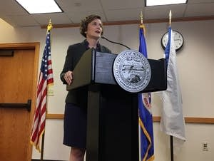 Mayor Betsy Hodges addresses the media after resignation of Chief Harteau.