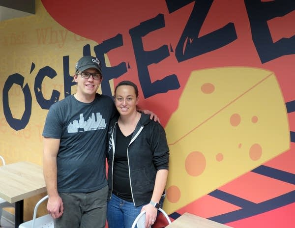 Tony and Haley Fritz opened O'Cheeze before Super Bowl week.