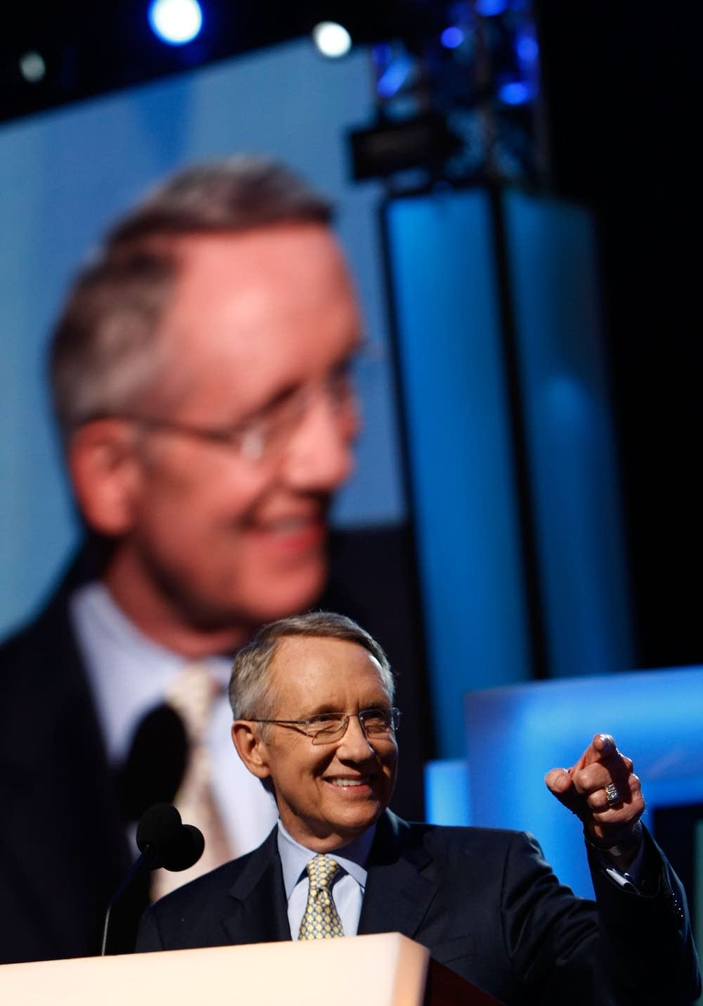Harry Reid (D-NV ) speaks on day three of the DNC