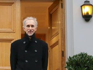 Mark McKenzie stands outside Abbey Road Studios in London.