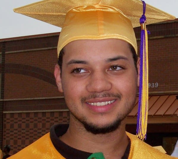 Marcus Golden at his graduation