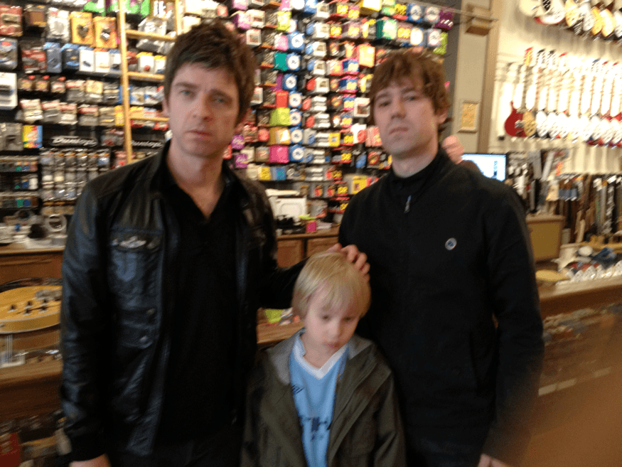 Chris Pavlich with Noel Gallagher