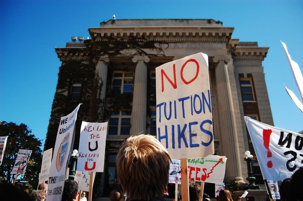 Protesting tuition