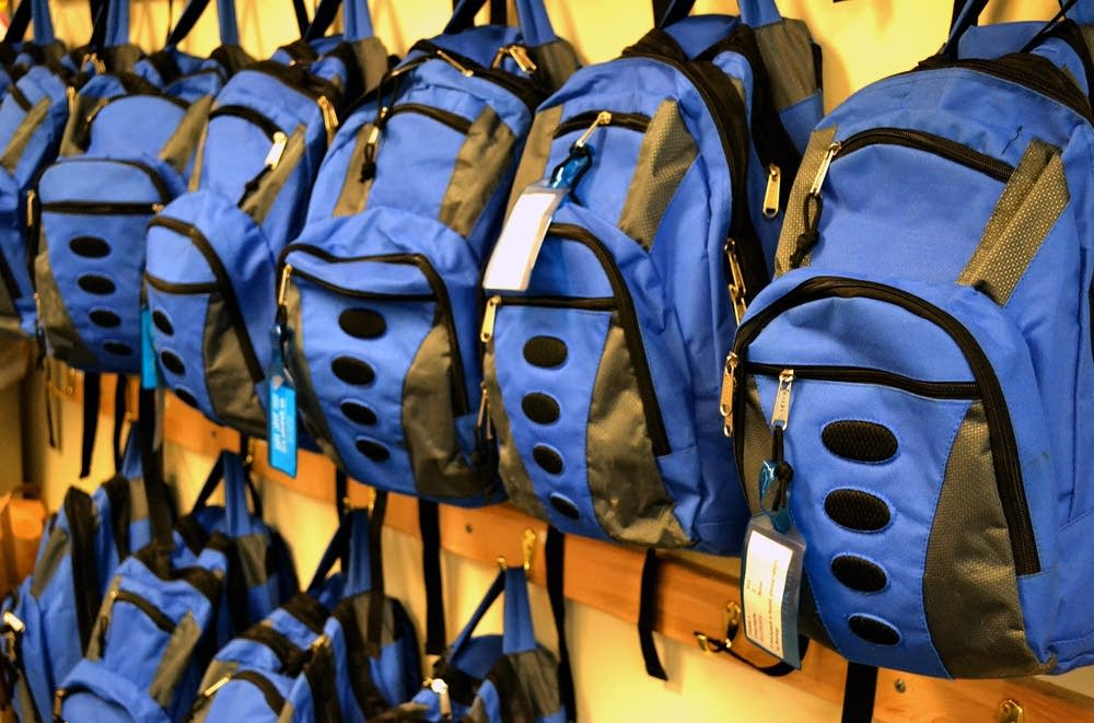 Backpacks at Harriet Bishop