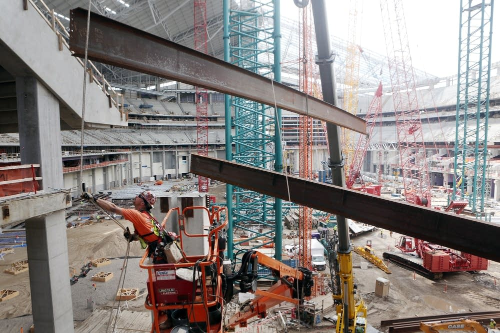 Vikings Stadium One Year To Go Seats Arrive Next Month