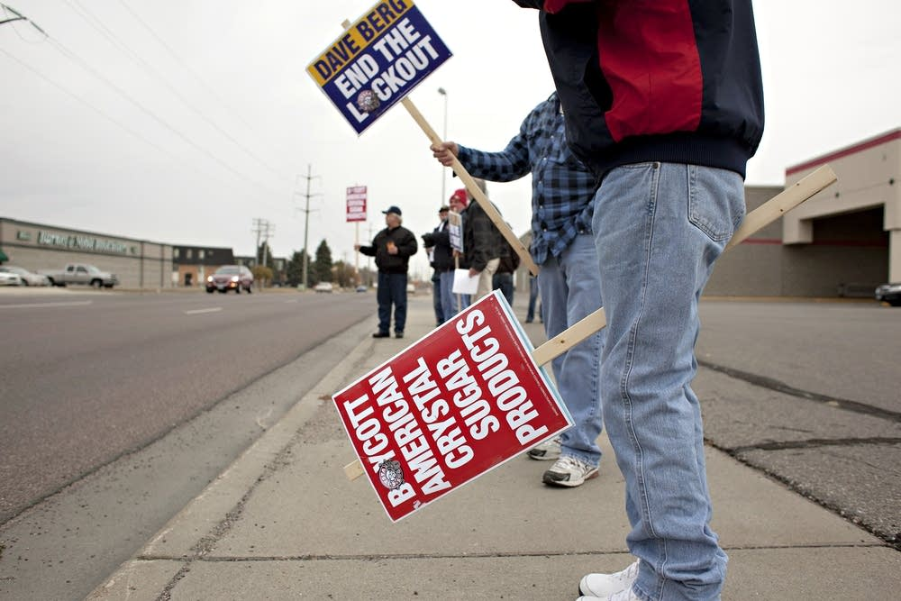 Locked-out union workers