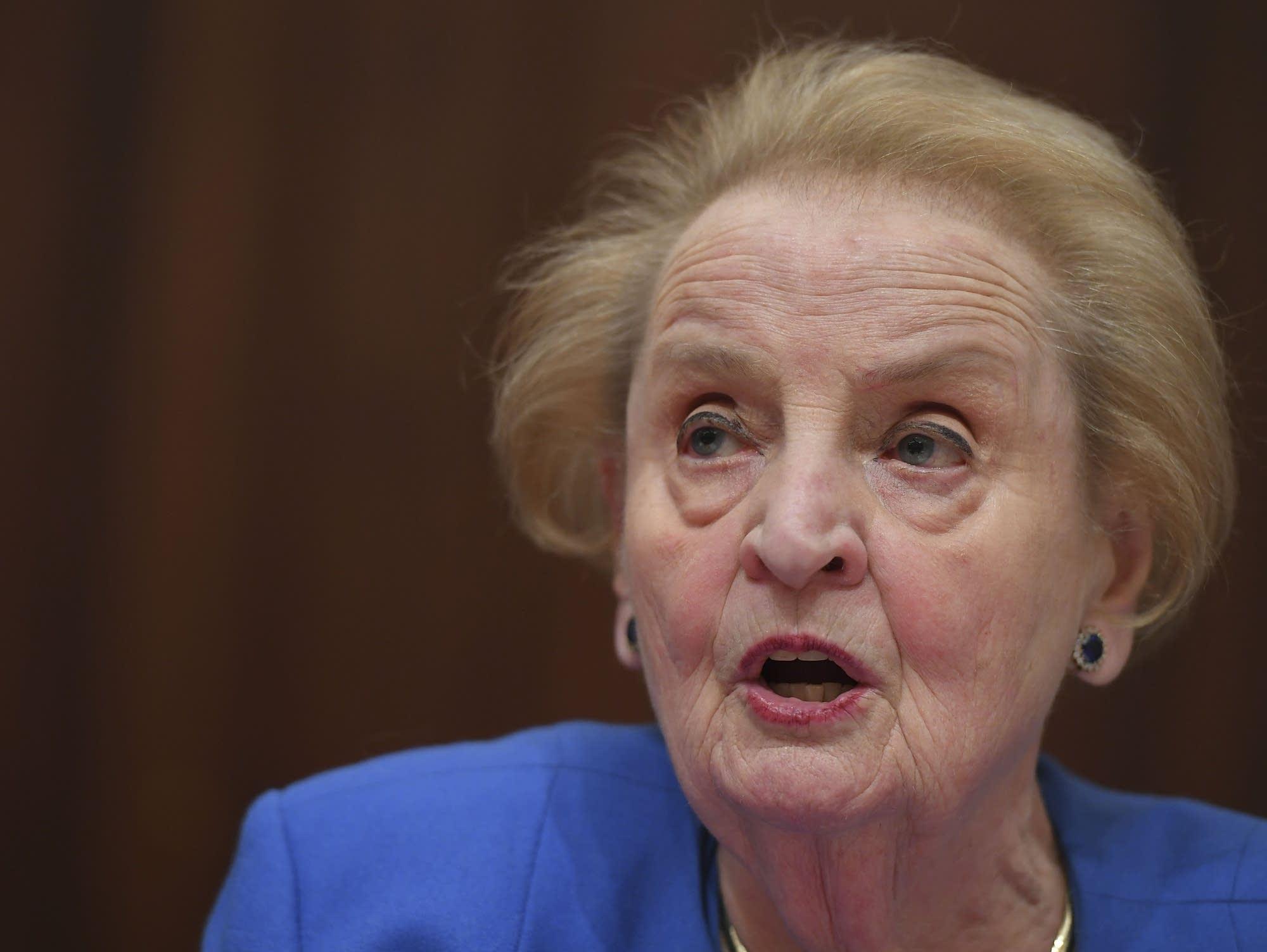 Former U.S. Secretary of State Madeleine Albright.