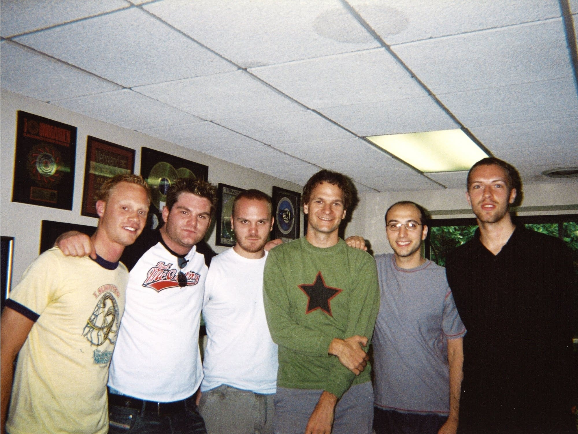 Program Director Jim McGuinn with Coldplay