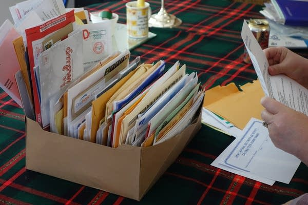 Yvonne's box of mail
