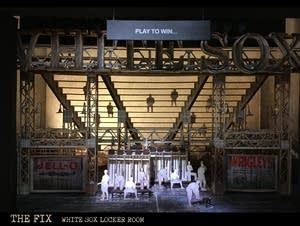 Set model of White Sox locker room for Minnesota Opera's 'The Fix'