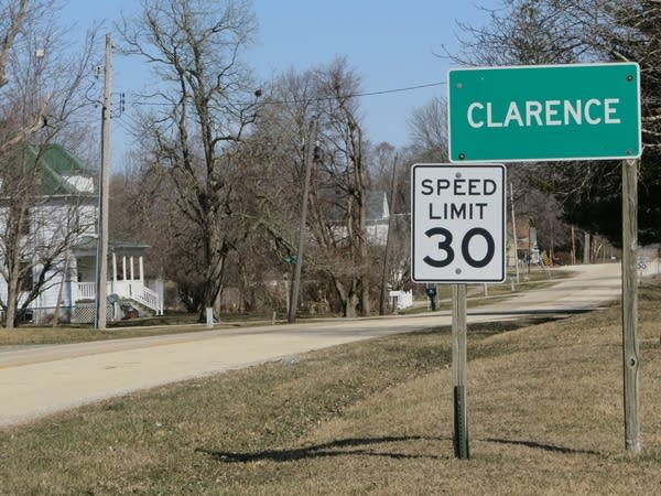 The town of Clarence, Ill.
